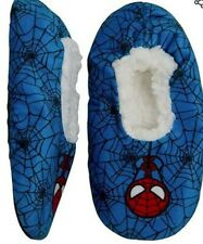 NWT MARVEL SPIDERMAN FUZZY BABA  SLIPPERS SOCK TODDLER BOY SZ 2T-3T. 4T-5T