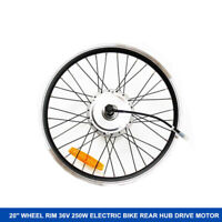Ebike 36V 250W Electric bicycle conversion kit Rear Wheel Hub Motor Rim 20''