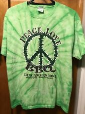 PEACE LOVE BBQ ~ LANCASTERS BBQ N Carolina ~ XL ~ Tie Dye Pease Sign T Shirt