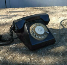 Rotary Dial Desk Telephone Phone 1972 Vintage Soviet Russian USSR Black