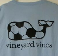 VINEYARD VINES Men's L/S  Pocket T-Shirt Soccer Whale Lt Blue Sz 2XL- NWT