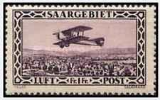 Timbre Avions Sarre PA2 ** lot 22386