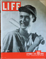 LIFE MAGAZINE SEPTEMBER 1, 1941 Number 1 batter TED WILLIAMS - Sgt York AD