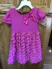 Rare, Too! Pink Size 4 Girls Fuchsia Pink Ruffle Dress