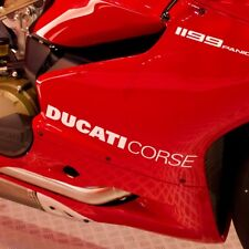 Ducati Corse Fairing Stickers x2 Panigale 899 959 1199 1299 Vinyl Any Colour