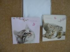 CATS PROTECTION 'Thank You' Cards x7