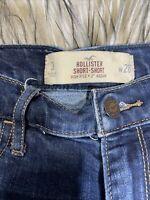 Hollister Short-Short Highrise Size 3 W 26 Cuffed Denim Shorts NICE