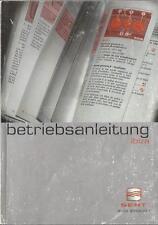 SEAT  IBIZA Betriebsanleitung 2002 Bedienungsanleitung Handbuch Bordbuch BA