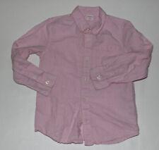 Boys GYMBOREE Pink Long Sleeve Linen & Cotton Dress Shirt Size S 5-6