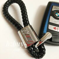 BMW Benz Audi  PU Leather Key chain / Keyring / Keystrap / Key fob with BMW Logo