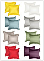 Aiking Home 2-Pieces Solid Faux Silk Euro Shams, Pillow Covers Multi-Size/Color