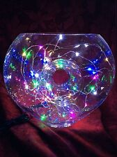 NEW Bling Electric Crystal LAMP Art Deco Table Top DECORATION Multi Colored LEDs