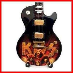 KISS ! GUITARE MINIATURE Paul Stanley Gene Simmons Logo portrait Hard Rock Metal
