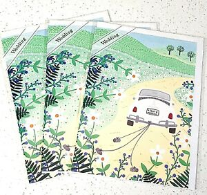 *3 Pack* Trader Joes WEDDING Cards on Recycled Paper w/ Soy Ink NEW in Pkg