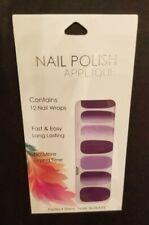 Nail Polish Stickers - Dark/Light Purple Ombre (Convenient/Quick)