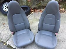 2003  MAZDA MIATA  GRAY LEATHER SEATS, USED, FITS 1990  to 2005, OEM