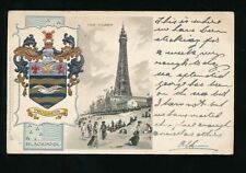 Blackpool Embossed Collectable English Postcards