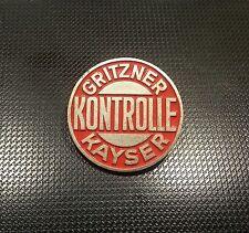 Gritzner Kayser Brosche Kontrolle lackiert 29mm gestempel Preissler alt+original