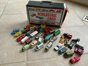 Lot Vintage Matchbox Lesney Die cast Cars & Case Milk truck Hot Wheels Redline +