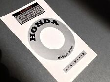 Honda ATC 70 NEW Silver Stickers Engine Recoil Warning starter Advice Vintage