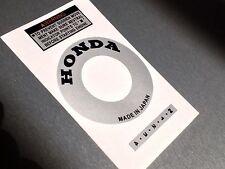 Honda ATC 70 NEW Silver Stickers Engine Recoil Warning starter Advice Vintage