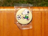 "Soccer Snoopy Dog Peanuts Cleats Football 1 3/4"" Lapel Pin Pinback Button"