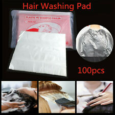 100X Plastic Disposable Hair Cutting Capes Hairdressing Home Barber Apron Dyeing