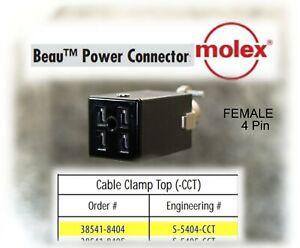 CINCH JONES BEAU MOLEX S-2404-CCT 38541-8404 POWER SOCKET 4 PIN NOS