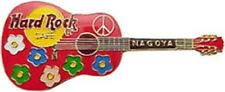 Hard Rock Cafe NAGOYA 1999 ACOUSTIC GUITAR PIN Flowers & Peace HRC Catalog #6027