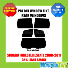 SUBARU FORESTER ESTATE 2008-2011 35% LIGHT REAR PRE CUT WINDOW TINT