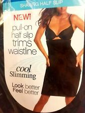 NWT SHAPING HALF SLIP SMOOTHING WAISTLINE SLIMMING FIRM CONTROL BLACK  MSRP $54