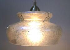"Mercury Glass Style Acrylic Hanging Pendant Light Fixture 12"" w/ Edison Bulb"