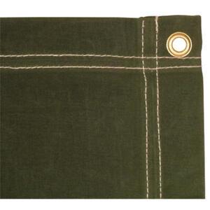 12 x 24 Olive Drab Canvas Tarp 10 oz Heavy Duty / Water Resistant