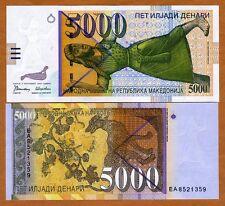 Macedonia, 5000 (5,000) Denari, 1996, P-19, UNC > Withdrawn from circulation