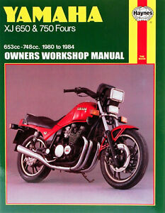 HAYNES Repair Manual - Yamaha XJ650 & 750 (80-84)