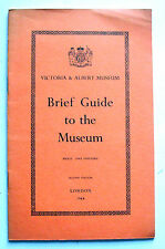 1964 BRIEF GUIDE TO THE VICTORIA & ALBERT MUSEUM with floor plans V&A VGC