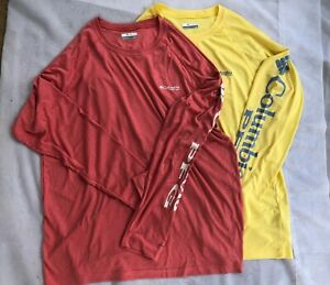 NWT Columbia Men's Terminal Tackle Heather Long Sleeve Shirt PFG logo UPF 50