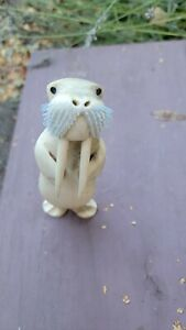 Inuit Carved Walrus Tommy Kunillusie