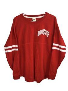 Ohio State Buckeyes Love Pink Crewneck Shirt L/S Victoria's Secret Size M