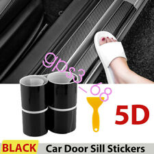 4X Accessories Car Stickers Carbon Fiber Door Sill Protector Scuff Plate Trim US