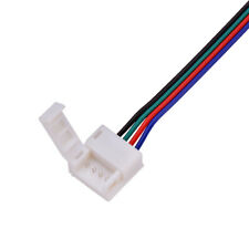 10 X 10mm 4 pin RGB LED Strip to power connector, with 15CM cable, IP54/IP65