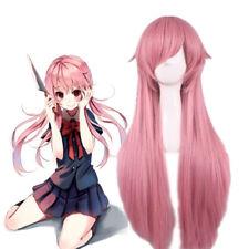 """80cm/31.5"""" Women Pink Wig Future Diary Mirai Nikki Gasai Yuno Cosplay Long Wig"""