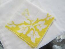 "Yellow ""A"" Monogram on White Handkerchief. Cutout Yellow Corners"