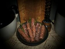 "Primitive Gathering 6 Hand Dipped Spiced Rolled Grubby Candle Nubby's 4""- 5""tall"