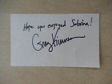 "Greg Kinnear Autographed 3"" X 5"" Index Card with 10"" X 11"" Newspaper Clipping"
