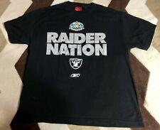 Vintage Super Bowl XXXVII 2003 Oakland Raiders Nation T-shirt Mens Reebok