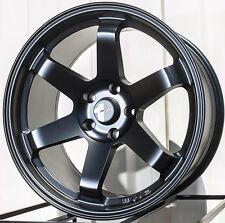 18X9.5 Avid.1 Wheels Av06 5X114 +24 Matte Black Rims Fits 350z G35 240sx Rx8 Rx7