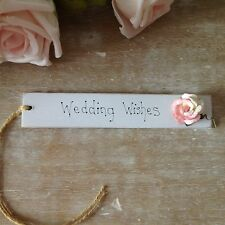 Personalised Wedding Gift Tag Favour Bride Groom Shabby Chic Vintage Present