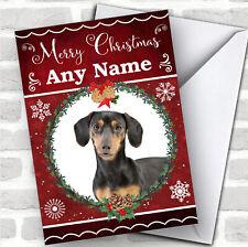 Dachshund Dog Traditional Animal Customised Christmas Card