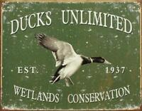 Ducks Unlimited - Since 1937 Vintage Retro Tin Sign 13 x 16in